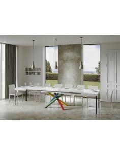 Tavolo Volantis Allungabile piano Marmo 90x130 allungato 390 telaio multicolor