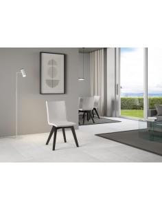 Itamoby - Sedia Trudy gambe Antracite cuscino bianco 01