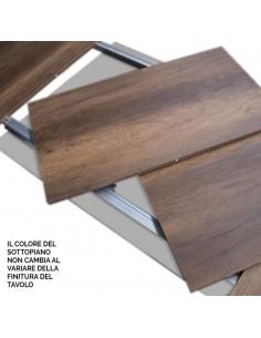 Tavolo Baita allungabile piano Bianco Frassino 90x180 allungato 440 telaio Antracite