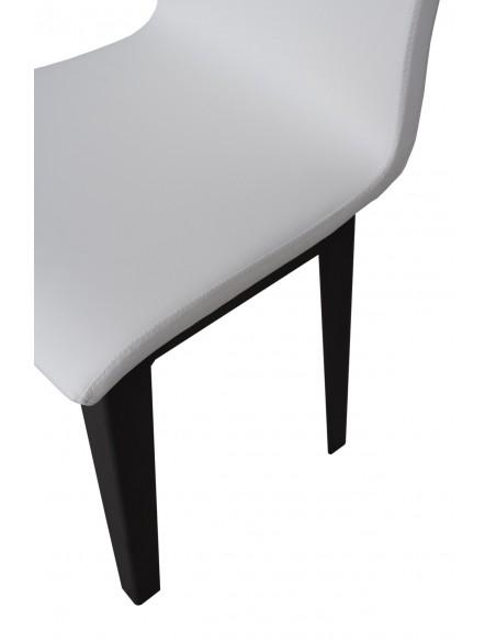 Sedia Armida gambe Antracite cuscino Bianco 01  (gambe Coniche)