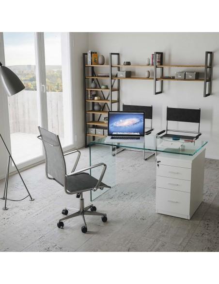 Scrittoio B-Desk con cassettiera L.125,5 P.65 H.74,5 New Price 263
